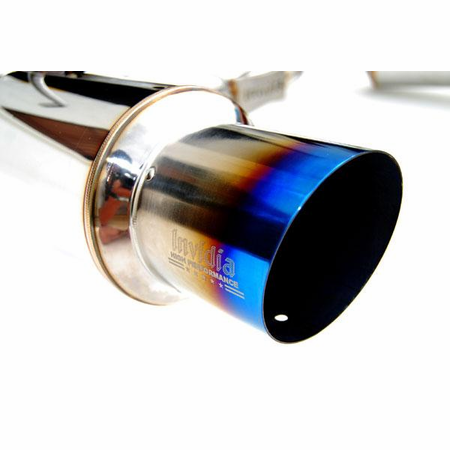 Invidia N1 Dual Burnt Titanium Tips Cat-Back Exhaust 08-14 Subaru WRX STI Wagon