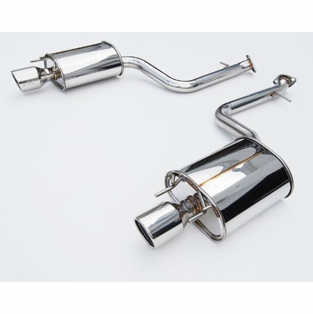Invidia Q300 Rolled Stainless Steel Tips Axle-Back Exhaust 13-UP Lexus IS250/IS350