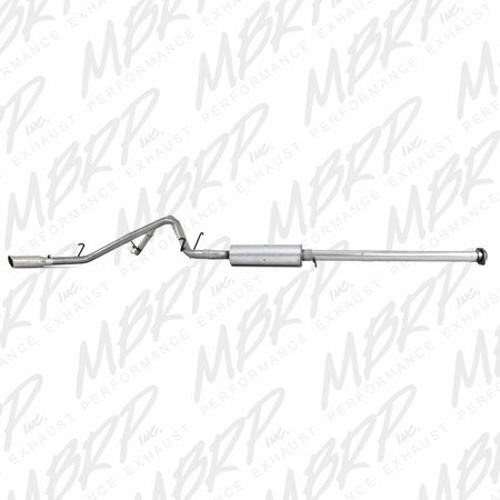 "MBRP 3"" Cat Back, Dual Split Side, AL 2007-2008 Chevy/GMC 1500 (Next Gen.), CC, EC (excl. 8'' bed) 4.8/5.3L/6.0L"