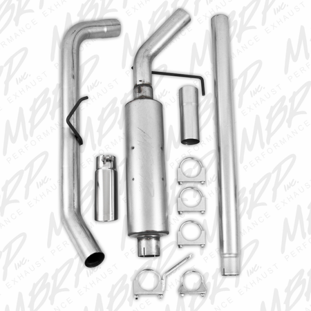 "MBRP 3"" Cat Back, Single Side, AL 2004-2008 Ford F150 EC/CC-SB"