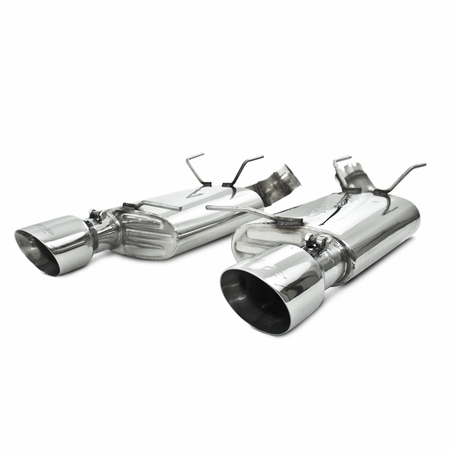 "MBRP 3"" Dual Muffler Axle Back, Split Rear, 4.5"" tips, T304 2011-2012 Ford Shelby GT 500"