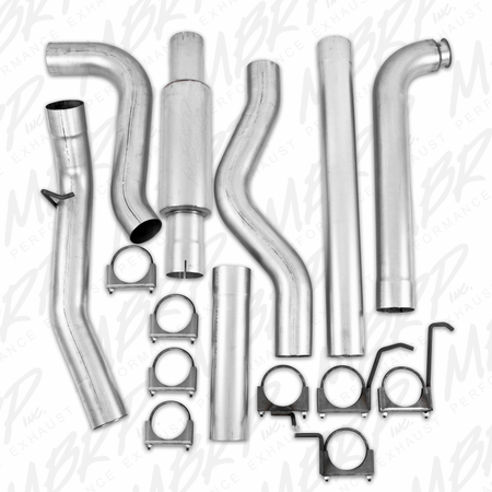 "MBRP 4"" Down Pipe Back, Single Side, Off-Road (includes front pipe) 2001-2007 Chevy/GMC 2500/3500 Duramax, Classic, EC/CC"