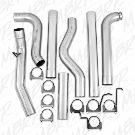 "MBRP 4"" Down Pipe Back, Single Side, Off-Road (includes front pipe) - no muffler 2001-2007 Chevy/GMC 2500/3500 Duramax, Classic, EC/CC"