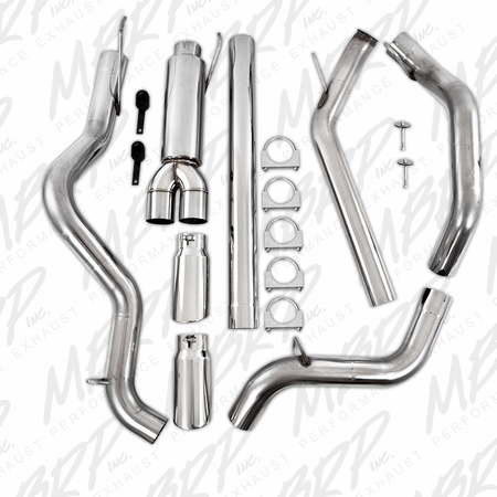 "MBRP 4"" Turbo Back, Cool Duals (4WD only), T409 2003-2004 Dodge 2500/3500 Cummins"