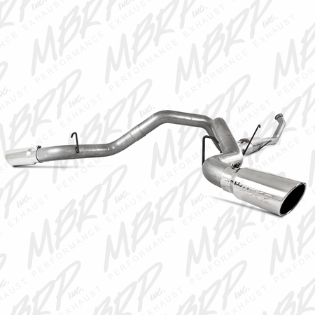 "MBRP 4"" Turbo Back, Dual Side Exit, AL 2004.5-2007 Dodge 2500/3500 Cummins ""600/610"""