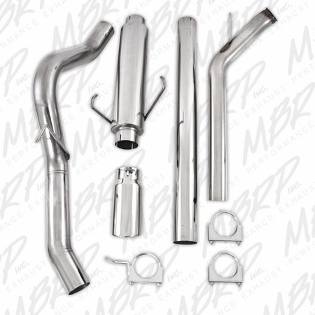 "MBRP 4"" Turbo Back, Single Side (4WD only), T409 2003-2004 Dodge 2500/3500 Cummins"