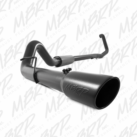 "MBRP 4"" Turbo Back, Single Side Black Coated 1999-2003 Ford F-250/350 7.3L"