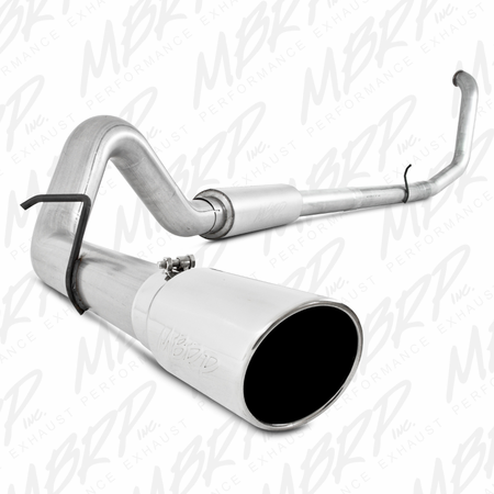 "MBRP 4"" Turbo Back, Single Side Exit, AL 1999-2003 Ford F-250/350 7.3L"