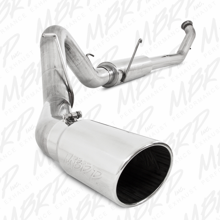 "MBRP 4"" Turbo Back, Single Side Exit, T409 2004.5-2007 Dodge 2500/3500 Cummins ""600/610"""