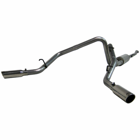MBRP Cat Back, Dual Split Side, AL 2005-2007 Dodge Dakota 3.7/4.7L