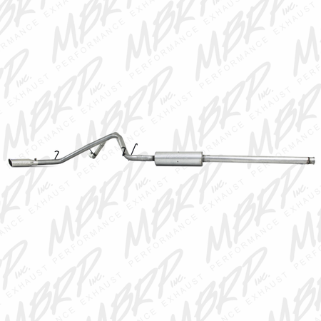 MBRP Cat Back, Dual Split Side, AL 2009-2013 Chevy/GMC 1500 4.8/5.3L RC/EC/CC (excluding 8' bed)