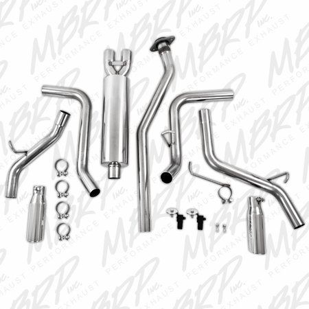 MBRP Cat Back, Dual Split Side, T304 2003-2007 Chevy/GMC 1500 Classic 4.8/5.3L EC/CC-SB