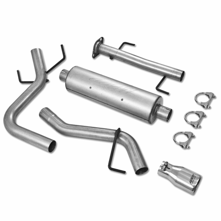 MBRP Cat Back, Single Rear, AL 2007-2013 Toyota FJ 4.0L V6