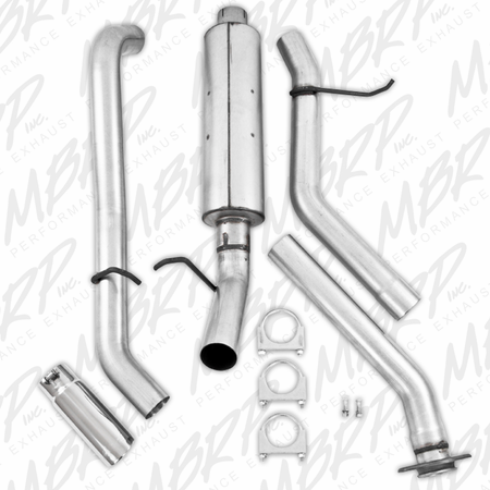 MBRP Cat Back, Single Side, AL 2003-2007 Chevy/GMC 1500 Classic 4.8/5.3L EC/CC-SB