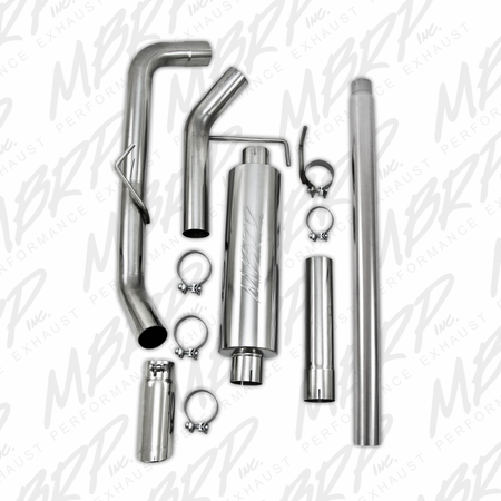 MBRP Cat Back, Single Side , T304 2004-2008 Ford F150 EC/CC-SB