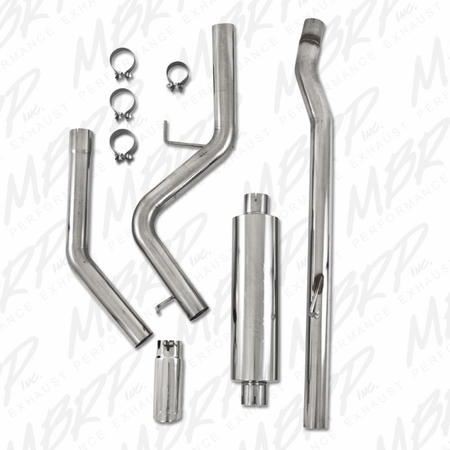 MBRP Cat Back, Single Side, T409 2008-2012 Dodge Dakota 3.7/4.7L