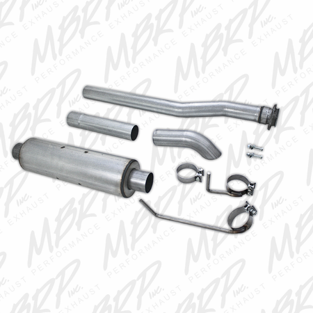 MBRP Cat Back, Single Side Turn Down, AL 2009-2010 Ford F-150 EC-not 8' bed/CC-all beds