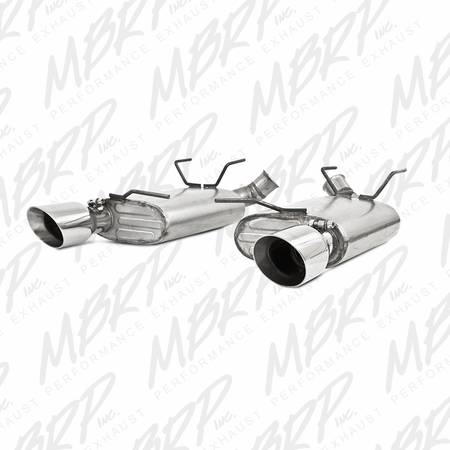 MBRP Dual Muffler Axle Back, Split Rear, AL 2011-2013 Ford Mustang V6