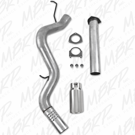 MBRP Filter Back, Single Side & Turbo Down Pipe, AL 2007-2010 Chevy/GMC 2500/3500 Duramax 6.6L