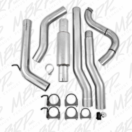 MBRP Turbo Back, Single Side (4WD only), AL  1988-1993 Dodge 2500/3500 Cummins