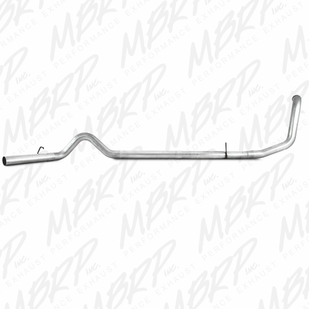 MBRP Turbo Back, Single Side - no muffler 1999-2003 Ford F250/350 7.3L