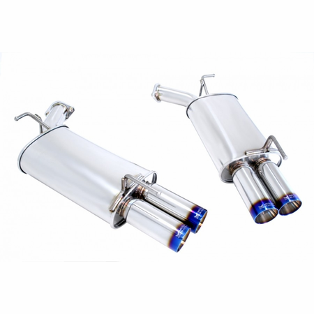 Megan Racing Axle Back Exhaust System: Infiniti M35/45 AWD/RWD 2006-2010 Burnt Roll Tips