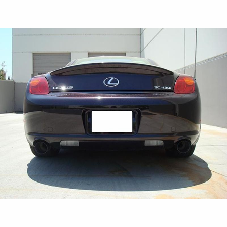 Megan Racing Axle Back Exhaust System: Lexus SC430 01-10 [Blue Titanium Tip]