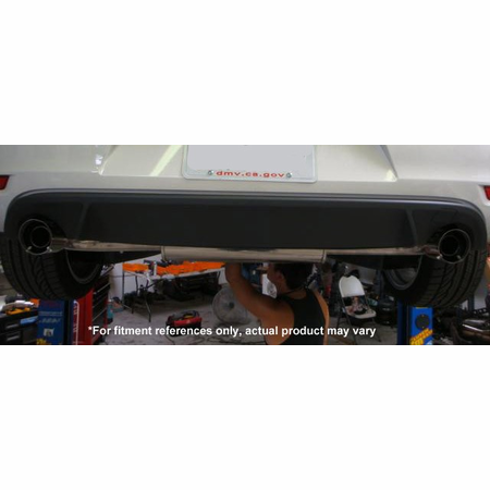 Megan Racing OE-RS Cat-Back Exhaust System: VW Golf GTI (MK6) 2010-13 Stainless Roll Tips