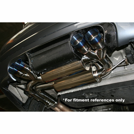 Megan Racing Supremo Exhaust System: BMW E46 M3 01-06 Black Chrome Roll Tips