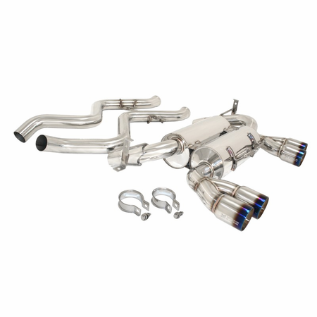 Megan Racing Supremo Exhaust System: BMW E90 M3 4 DR 2008-11 Burnt Roll Tips
