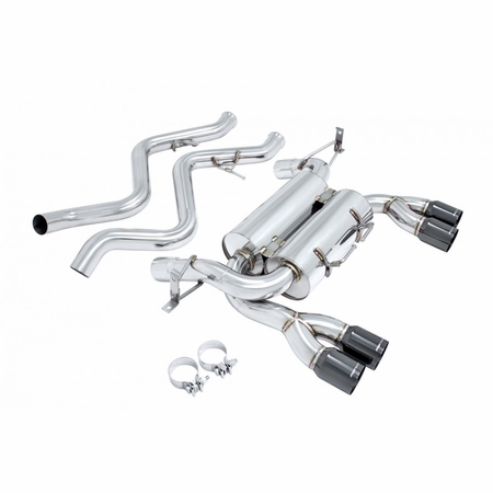 Megan Racing Supremo Exhaust System: BMW E92 M3 2008-13 Black Chrome Roll Tip