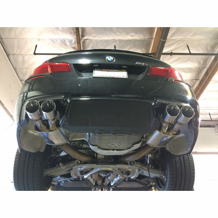 Megan Racing Supremo Exhaust System: BMW F10 M5 2011+ Burnt Roll Tips