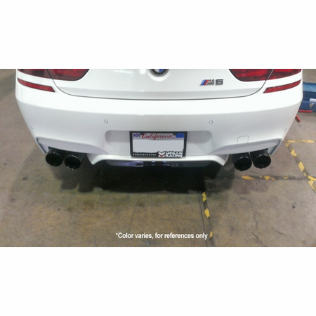 Megan Racing Supremo Exhaust System: BMW F13 M6 Coupé 2013+ Black Chrome Roll Tips
