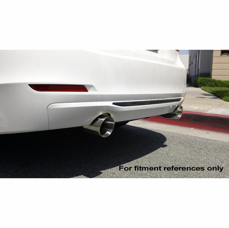 Megan Racing Supremo Exhaust System: BMW F30 335i 2012+ Burnt Roll Tips