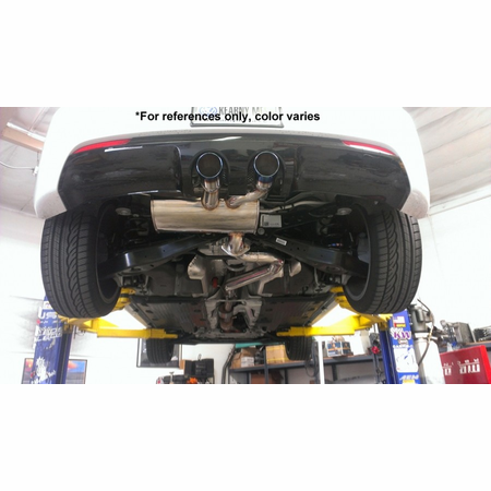 Megan Racing Turbo Type Cat-Back Exhaust System: VW Golf R 2.0 Turbo 2012-13 Burnt Roll Tips