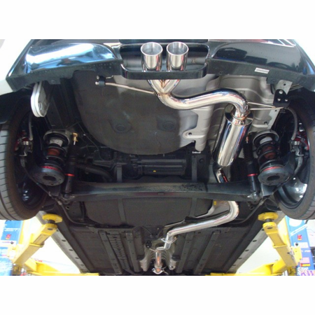 Megan Racing Type2 Cat-Back Exhaust System: Hyundai Veloster 2012+ Burnt Rolled Tips