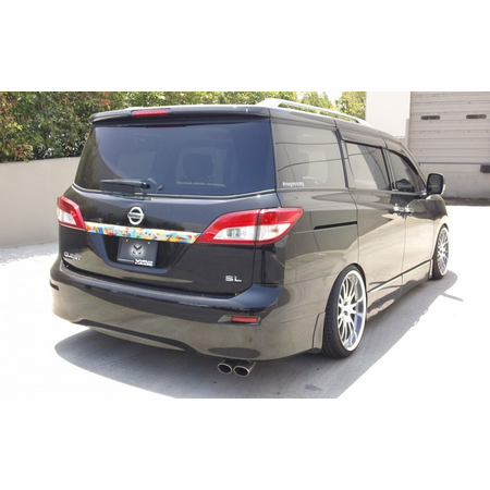 Megan Racing Type2 Cat-Back Exhaust System: Nissan Quest 2011+ Stainless Roll Tips