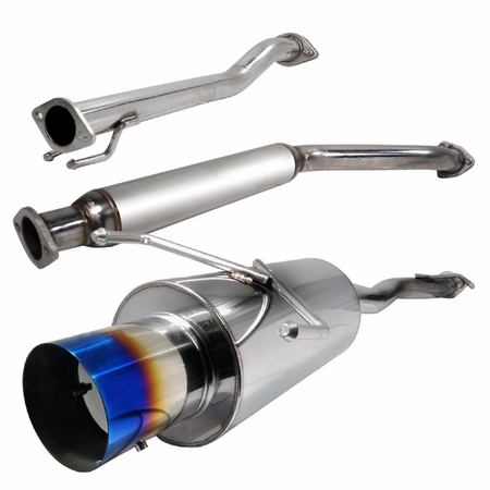 Spec-D 2002-2005 Honda Civic Si Hatchback Burnt Tip Catback Exhaust