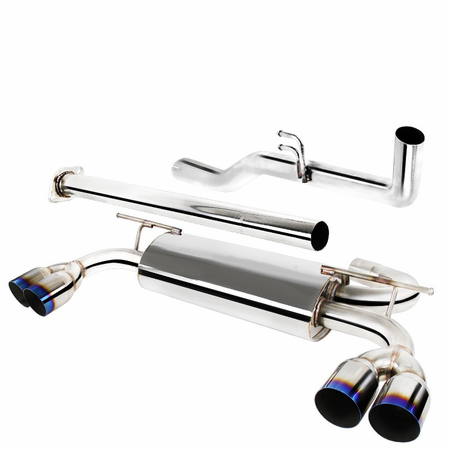 Spec-D 2009-2014 Hyundai Genesis Coupe 2.0T Stainless Burnt-Tip Catback Exhaust