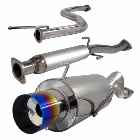 Spec-D 94-01 Acura Integra GS/RS/LS 2DR Coupe Catback Exhaust W/Burnt Tip