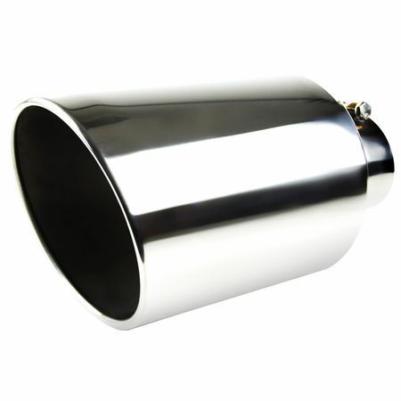 Spec-D Universal 14.5in Stainless Steel Bolt-on Exhaust - Chrome