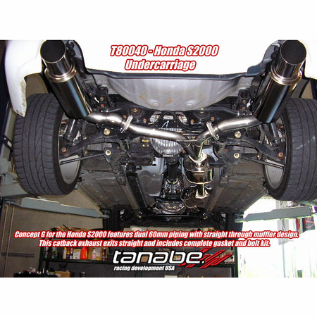 Tanabe Medalion Concept G Exhaust System 00-05 Honda S2000