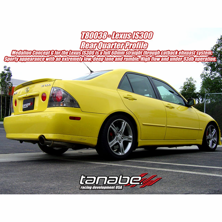 Tanabe Medalion Concept G Exhaust System 00-05 Lexus IS300
