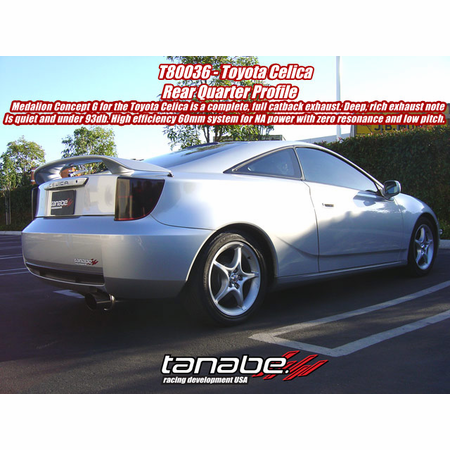 Tanabe Medalion Concept G Exhaust System 00-05 Toyota Celica GT/GTS