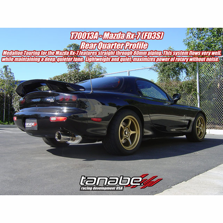 Tanabe Medalion Touring Exhaust System 93-97 Mazda RX-7