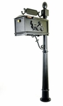 MB300 Curbside Mailbox with Cast Horse and Buggy Package