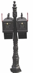 MB600P Double Barcelona Style Mailbox with Paper Package
