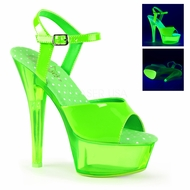 Pleaser Kiss-209UVT Neon UV Reactive Sandal
