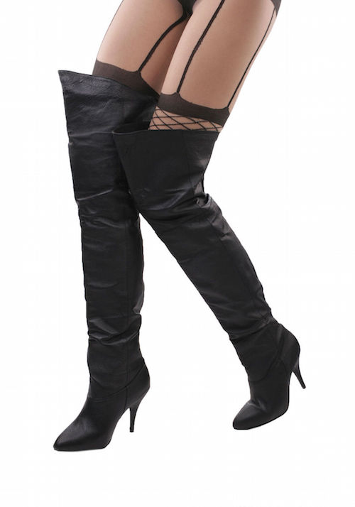 pull on thigh high boots tsaa heel