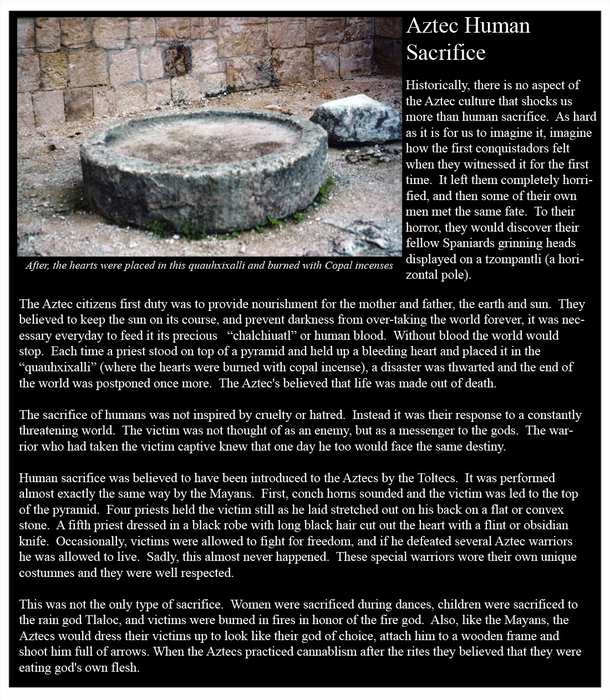 Aztec Temples of Human Sacrifices pt 1